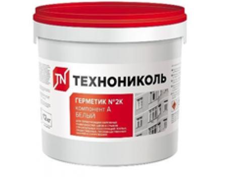 Герметик двухкомпонентный полиуретановый ТЕХНОНИКОЛЬ 2К белый, ведро 12 кг