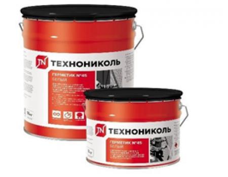 Герметик бутилкаучуковый ТЕХНОНИКОЛЬ № 45 белый, ведро 8 кг
