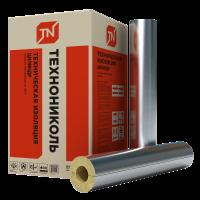 Цилиндр ТЕХНО 80  ФА с алюминиевой фольгой Технониколь, толщина стенки 20-120 мм, внутренний диаметр 18-324мм